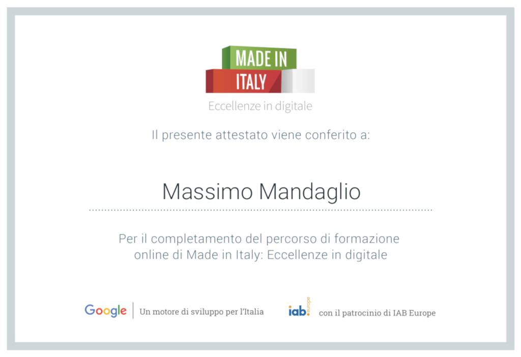 Made in Italy - Eccellezione in digitale